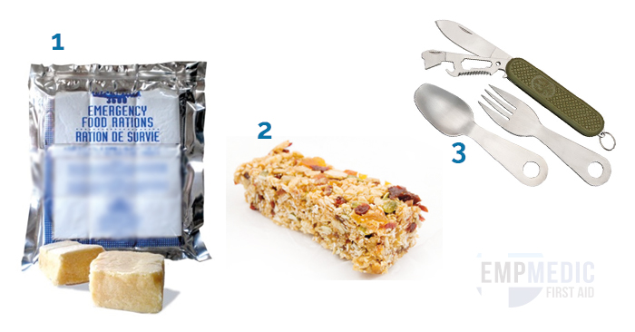 food and survival knife and fork